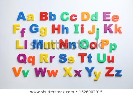 Colorido magnético cartas geladeira alfabeto porta Foto stock © adrian_n