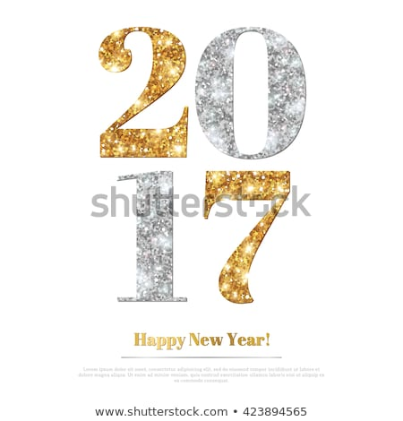 Happy 2017 new year silver background, vector illustration Stock photo © carodi