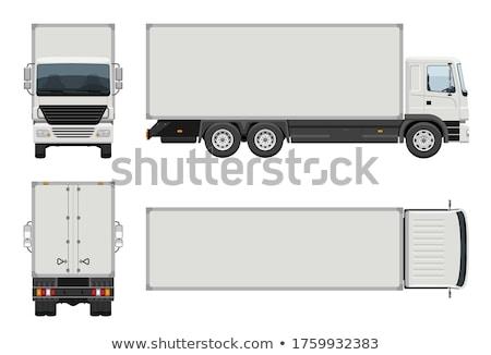 Lastwagen LKW Container Feld Hintergrund Kunst Stock foto © bluering