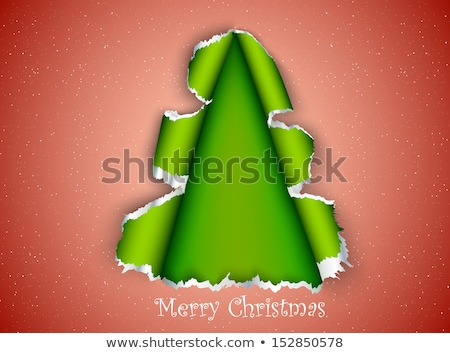 christmas tree made of torn paper stock photo © panaceadoll