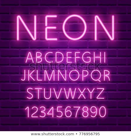 неоновых · шрифт · реалистичный · трубка · письма · алфавит - Сток-фото © voysla