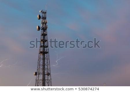 Radio wieża queensland pioruna burzy Zdjęcia stock © artistrobd
