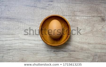 ruw · ei · drie · vers · lege · eierschaal - stockfoto © Digifoodstock