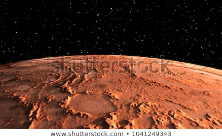 Planet Mars on a background of stars Stock photo © Noedelhap