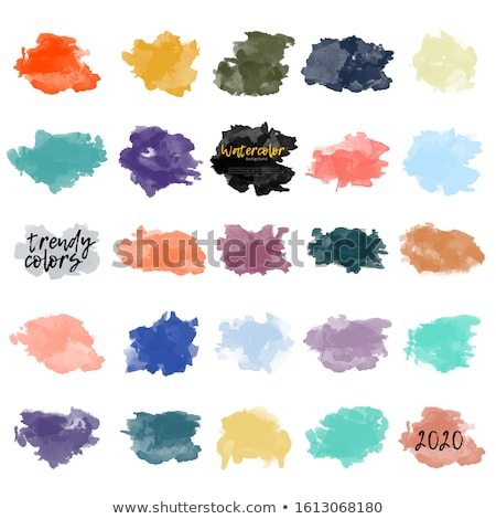 Stock photo: blue real watercolor stain background