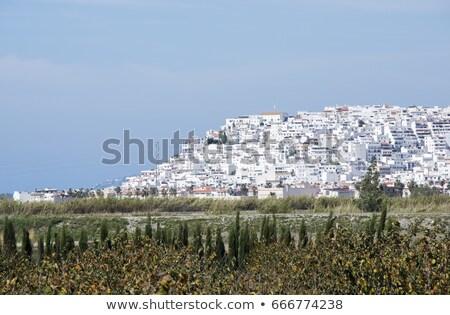 деревне малага белый типичный испанский домах Сток-фото © compuinfoto