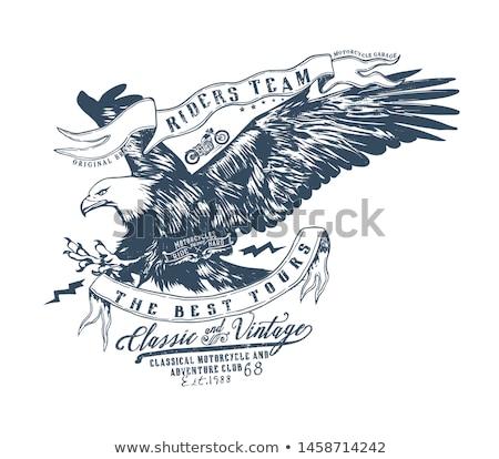 Szimbólum motoros klub amerikai motorosok banda Stock fotó © frescomovie