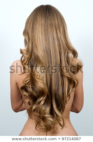 Beautiful woman with long wavy hair looking at camera Stock photo © julenochek
