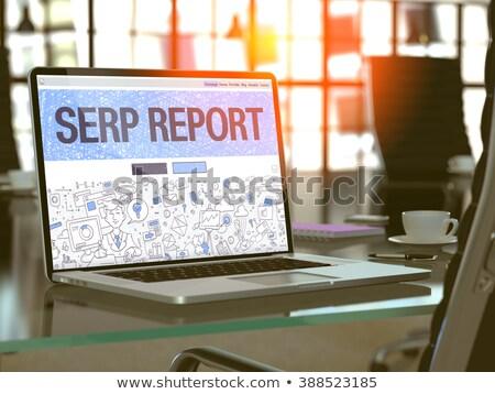 dizüstü · bilgisayar · ekran · arama · modern · işyeri - stok fotoğraf © tashatuvango