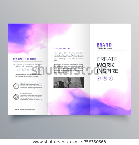 elegant watercolor trifold brochure design template Stock photo © SArts