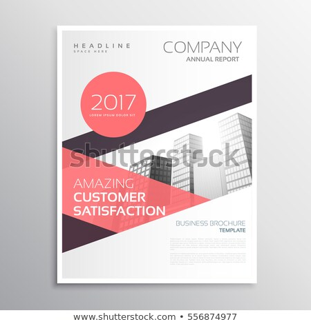 abstract annual report company brcohure design with abstract blu Stock photo © SArts