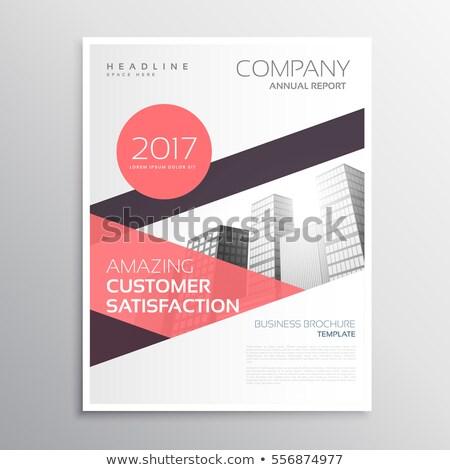 аннотация ежегодный докладе компания дизайна синий Сток-фото © SArts