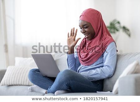Black Woman Waving Stock photo © keeweeboy