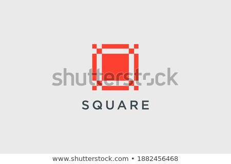 Piros levél márka logo sablon logotípus Stock fotó © vector1st