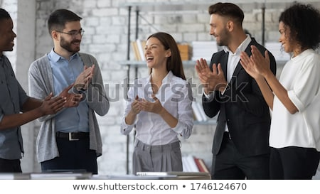 People applauding colleague Stock photo © IS2