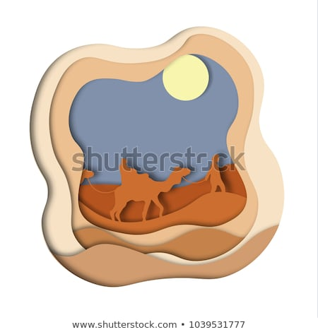 Sand Dune scene illustartion  Stock photo © bluering