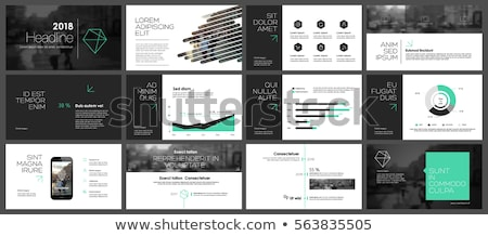 green business brochure layout presentation template Stock photo © SArts
