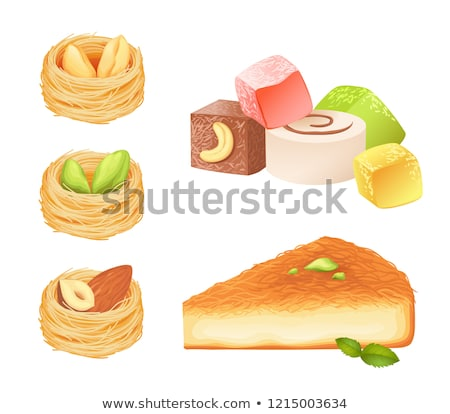 mint · cake · witte · plaat · boord · lunch - stockfoto © m-studio