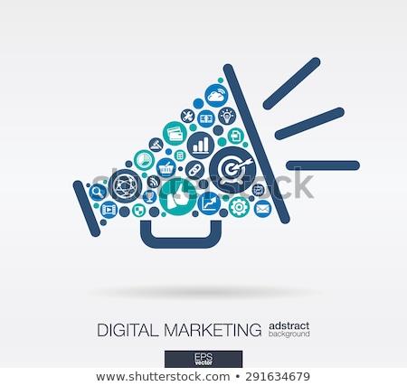 Publicidade megafone ícone digital pictograma Foto stock © tashatuvango
