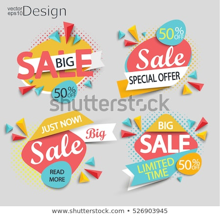 sale poster with sunburst stock photo © cammep