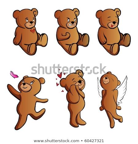 Cartoon arrabbiato angelo orso guardando Foto d'archivio © cthoman