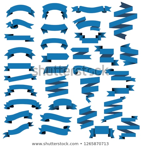 Blue Web Ribbon Big Set Stock photo © adamson