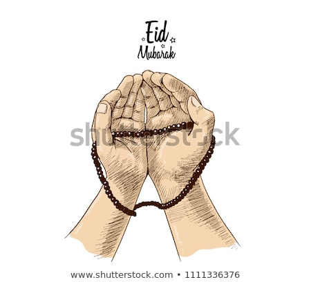 praying hands on kaaba stock photo © superzizie