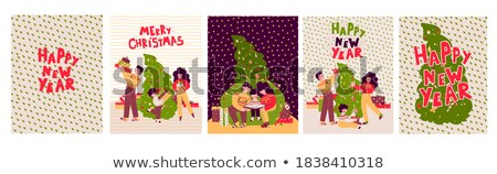 Vector Christmas Tree with Shopping Bags stock photo © dashadima