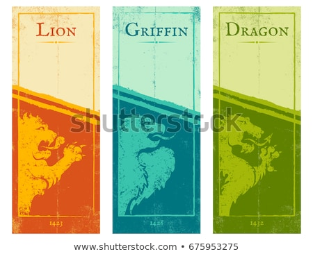 Stock photo: Dragon on game template