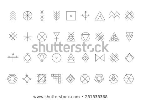 Abstrato preto vetor polígono geométrico ícone Foto stock © blaskorizov
