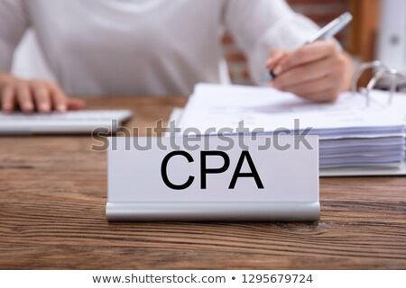 CPA Name Plate On The Table In The Office Stock photo © AndreyPopov