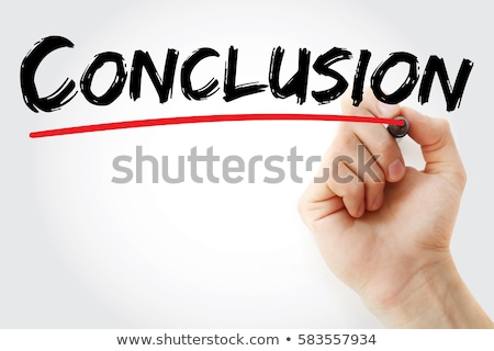 Word Conclusion Handwritten With White Marker Stock photo © ivelin