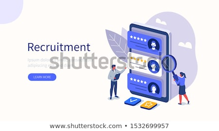 Isometric Employment and Hiring Concept Stock photo © -TAlex-