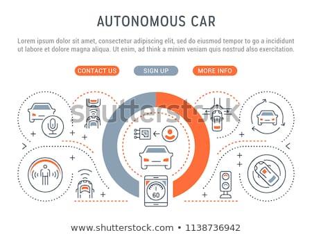 Autonomous driving concept landing page. Stock photo © RAStudio
