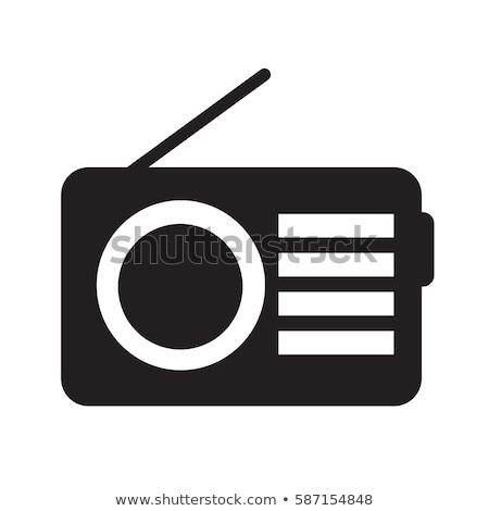 rádió · szimbólum · mikrofon · fejhallgató · munka · asztal - stock fotó © smoki