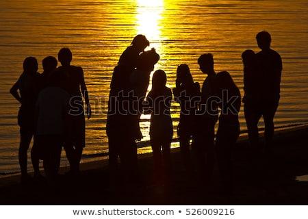 Stockfoto: Groep · jongeren · rivier · bank · auto