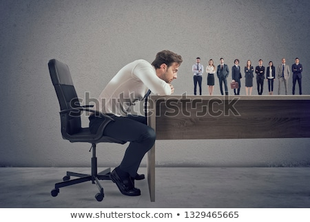 Boss selects suitable candidates to the workplace. Concept of recruitment and team Stock photo © alphaspirit