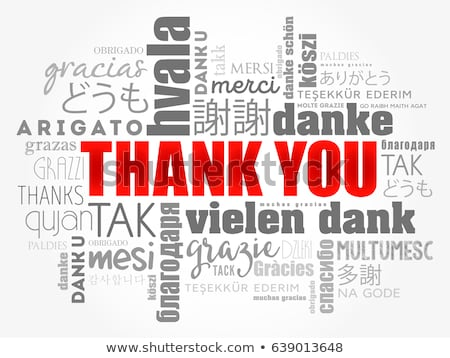 word Thank You  from Russian  Stock photo © Olena
