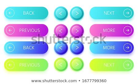 Renkli parlak düğme doğru ok Stok fotoğraf © Blue_daemon