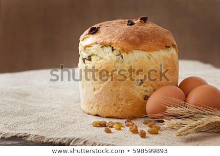 İtalyan Paskalya kek rus yumurta arka plan Stok fotoğraf © furmanphoto