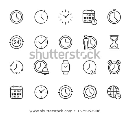 wristwatch and apple icons set vector illustration stock photo © robuart
