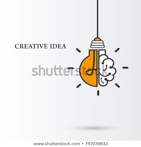 smart idea concept bright lamp Stock photo © alexaldo
