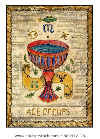 color vintage tarot cards emblem Сток-фото © netkov1