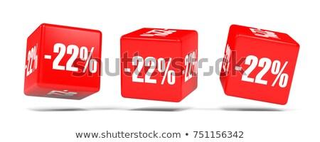 Vinte dois por cento branco isolado ilustração 3d Foto stock © ISerg