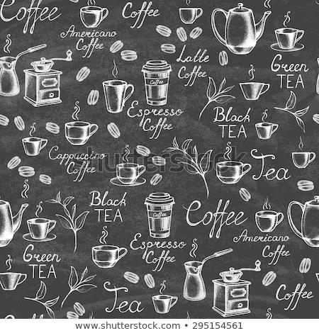 carta · tazza · di · caffè · bianco · caffè · sfondo · tè - foto d'archivio © cidepix