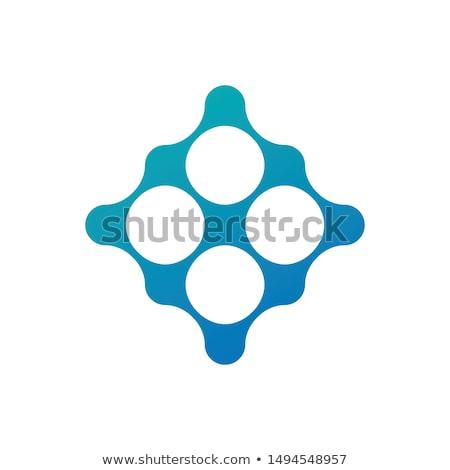 Tech Verbindung Schaltung Kreise Sphären Platz Stock foto © kyryloff