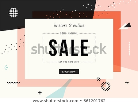 mega sale banner in memphis style template Stock photo © SArts