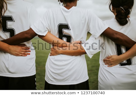 Girls in sports soccer team outdoors. Female physical education  Stock photo © matimix