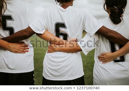 trenerem · dzieci · piłka · nożna · zespołu · młodzieży - zdjęcia stock © matimix