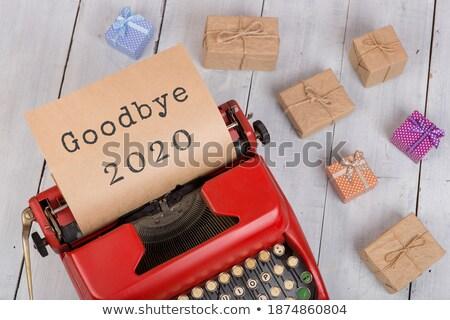 happy new year 2020 on retro typewriter stock photo © ivelin